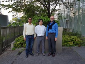 Group photo (L2R): R. Tiwari, M. Tsujimoto and C. Herstatt